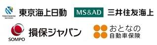 東京海上日動、三井住友海上、損保ジャパン、セゾン自動車火災保険